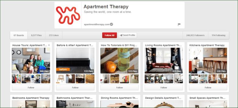 Pinterest Apartment Therapy Keyword Example