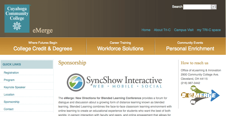 SyncShow Interactive Sponsors the Tri-C eMerge Conference