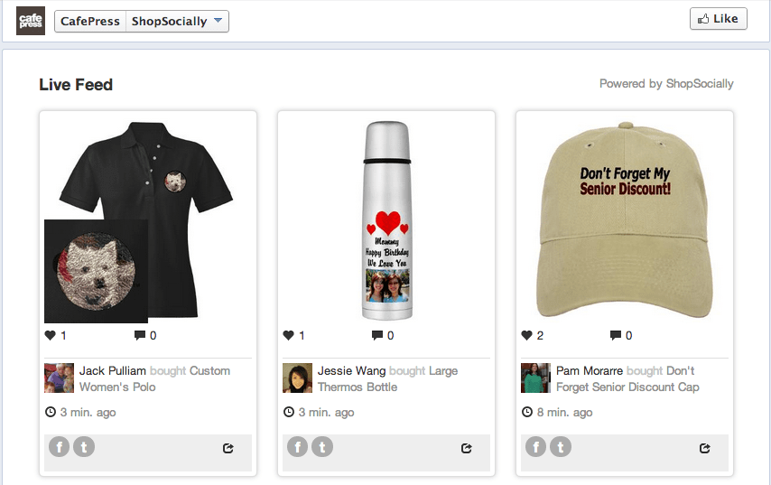 CafePress competes in the social mediasphere