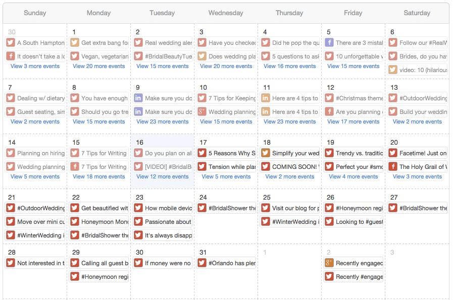 Content Calendar HubSpot