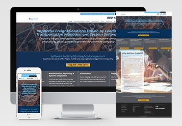 ReTrans Freight Website Displayed on Multiple Devices