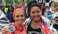 Erin and Nadine Run the Cleveland Half Marathon