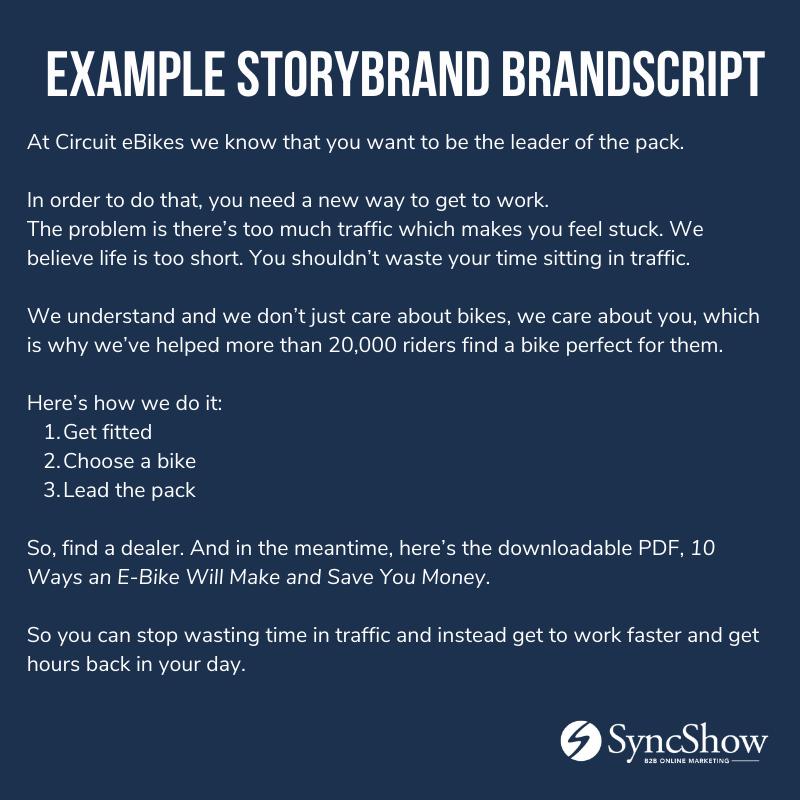 StoryBrand BrandScript Example