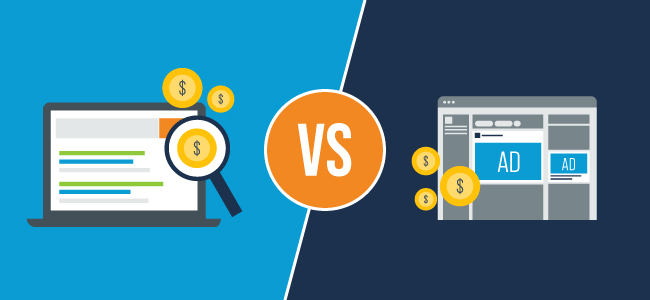 pay per click versus paid social media