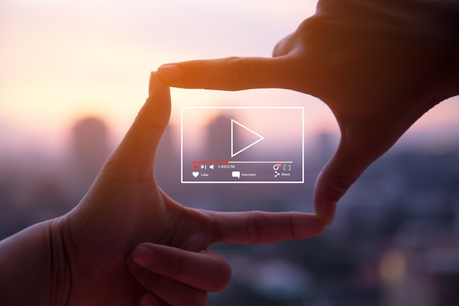 Social Media Video Play Button