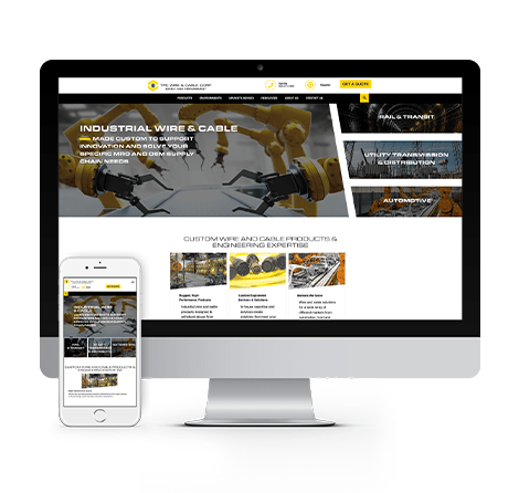 tpc wire and cable website mockup